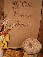ye olde harvest thyme towel