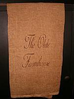The Olde Farmhouse towel cursive
