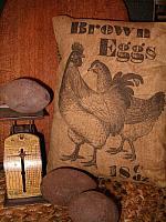 Brown Eggs pillow