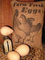 Farm Fresh Eggs pillow