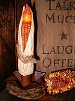 corncob battery operated candle