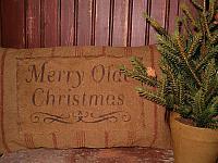 Merry olde Christmas heirloom pillow
