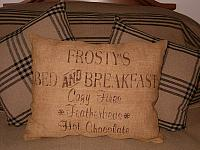 Frosty's bed and breakfast square pillow