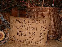 Winter words pillow