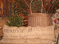 Frosty's bed and breakfast rectangular pillow