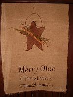 Merry olde Christmas table runner