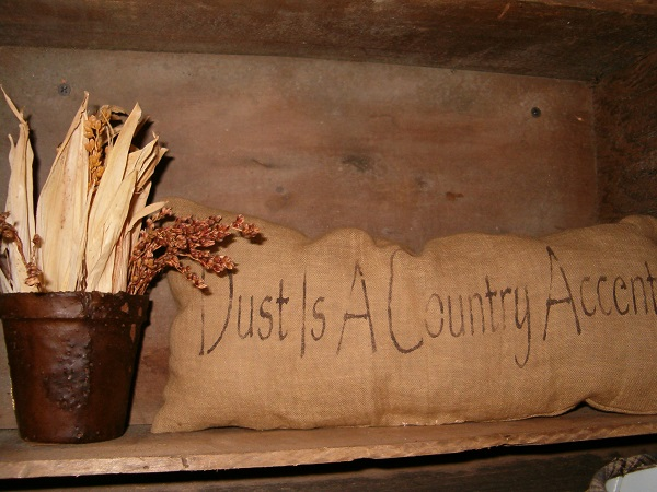 rectangulr dust is a country accent pillow
