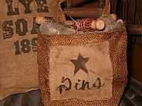 clothespins burlap sack