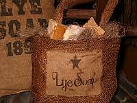 Lye Soap burlap sack