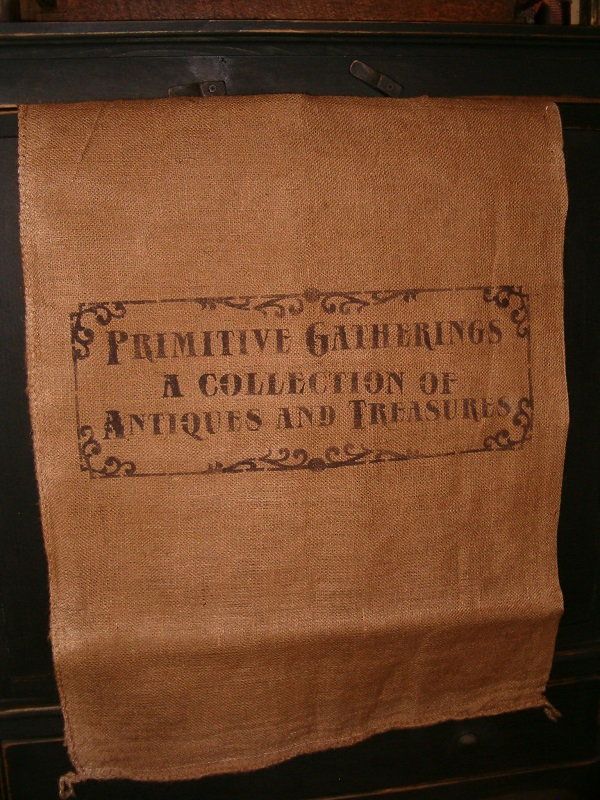 large primitive gatherings burlap sack