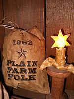 Plain Farm Folk stuffed ditty bag