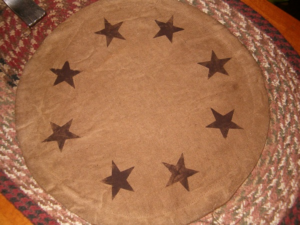 prim star candle mat