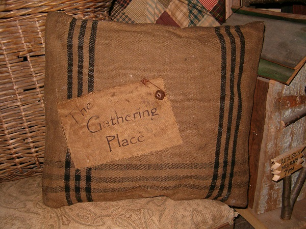 the gathering place pillow