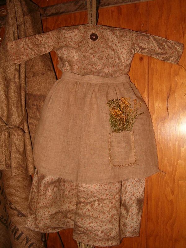 large tan and orange floral print prairie dress