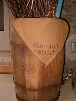 garden shed napkin