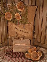 sunflowers pouch on stand