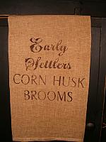early settlers corn husk broom towel