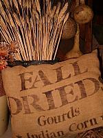 Fall drieds pillow