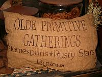 olde primitive gatherings pillow