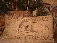 olde fashioned vintage Chritmas pillow