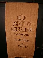 olde primitive gatherings towel