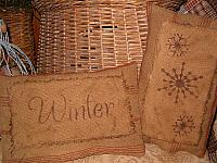 Wynter and snowflakes heirloom pillow set