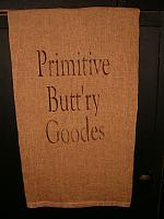 Primitive Buttry goodes towel
