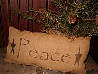 Peace star pillow
