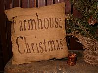 Farmhouse Christmas pillow or towel