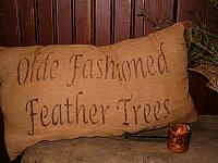 olde fashioned feather trees pillow or towel