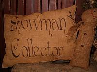 snowman collector pillow