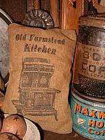 Old Farmstead Kitchen pillow