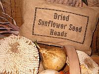 Dried Sunflower Heads pillow