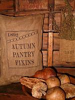Autumn pantry fixins pillow