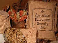 Autumn kitchen goods pillow
