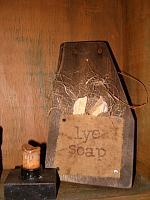 Lye Soap barnwood hanger