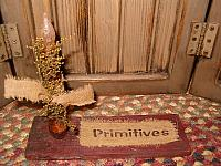 red primitives candle board