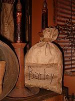 large Barley patched sack