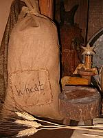 Wheat patched sack