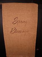 Spring blessings towel or pillow