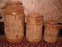 grungy prairie canister set