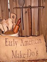early american makedos pillow