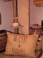 small wash room pillow