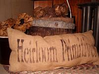 heirloom primitives pillow