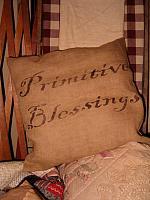 square primitive blessings pillow