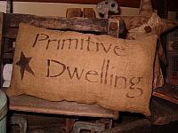primitive dwelling pillow