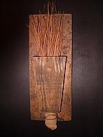 pine needle broom and holder