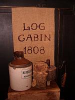 log cabin 1808 towel