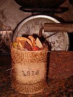 1818 small burlap smellgood can