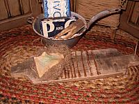 makedo rub board with lye soap and flax